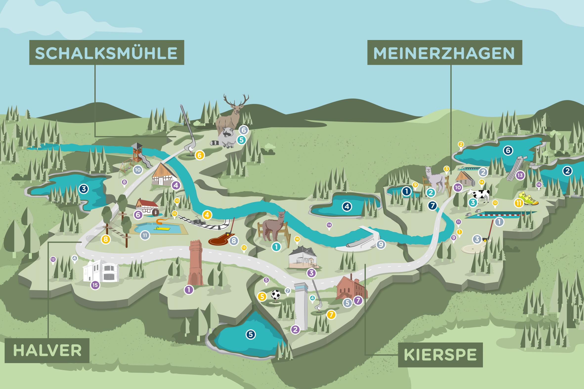 Ausschnitt Freizeitkarte
